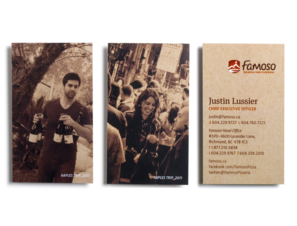 Famoso Business Cards