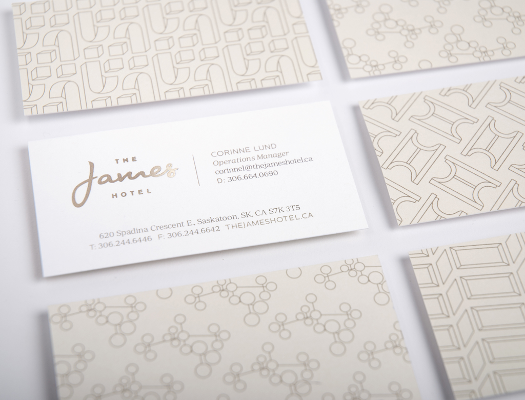 James Hotel Business Cards