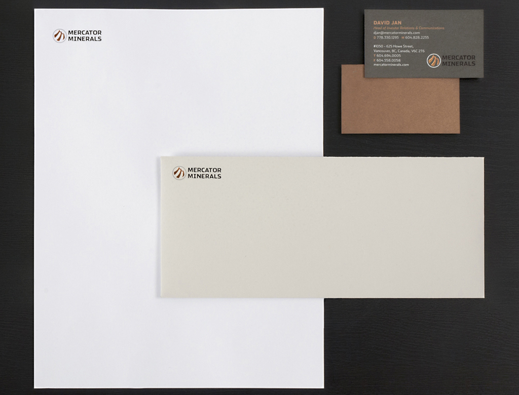 Mercator Minerals stationery