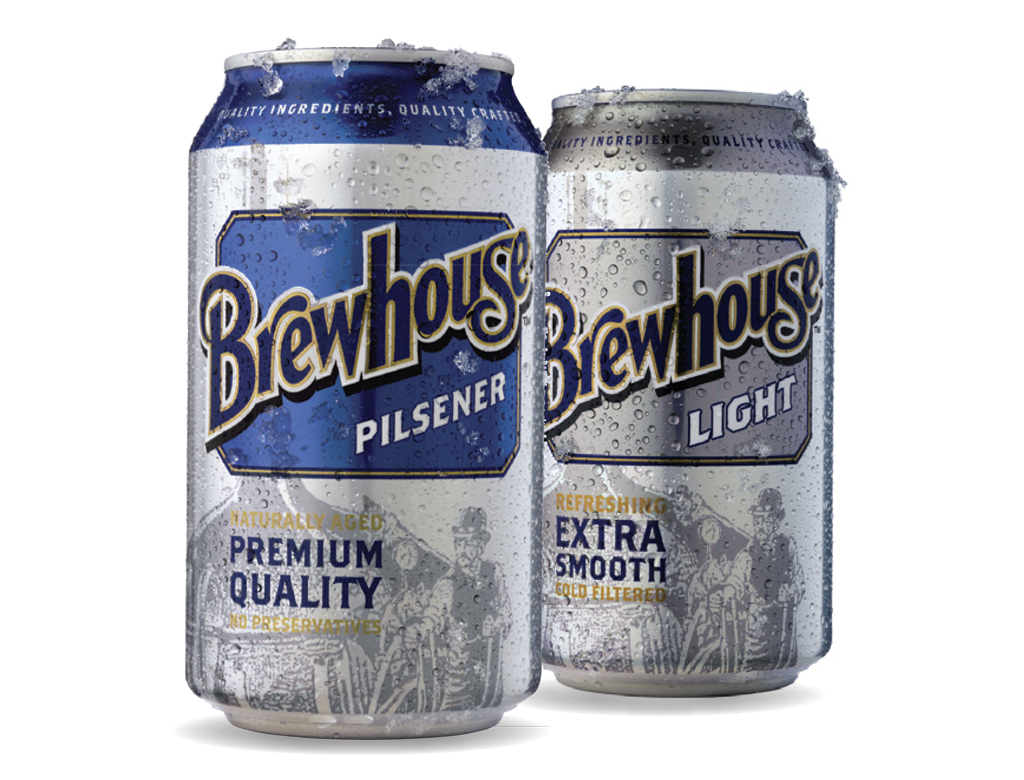 Brewhouse Beer cans