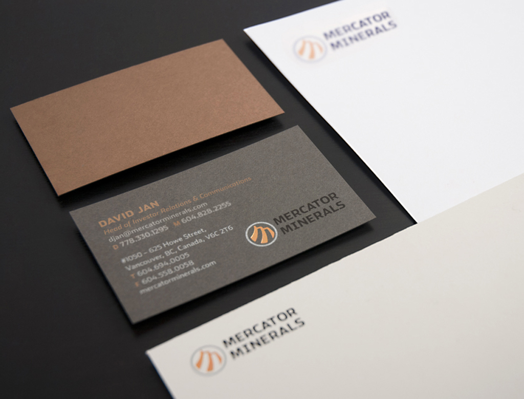 Mercator Minerals Stationery Package