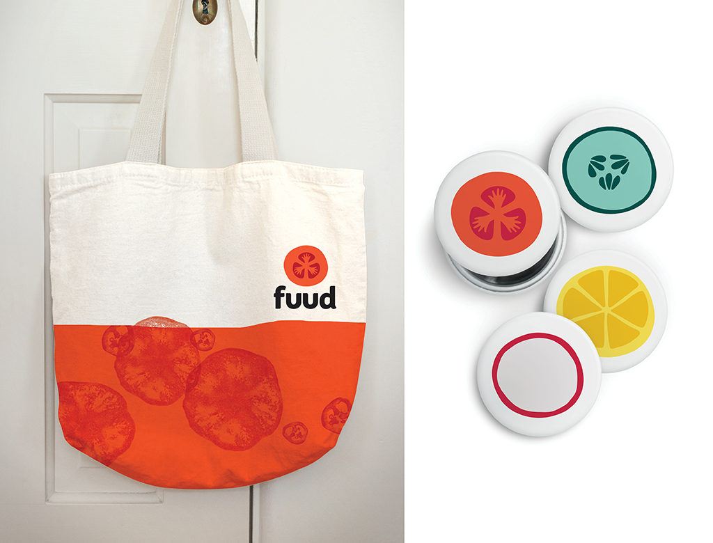 Fuud bag and buttons