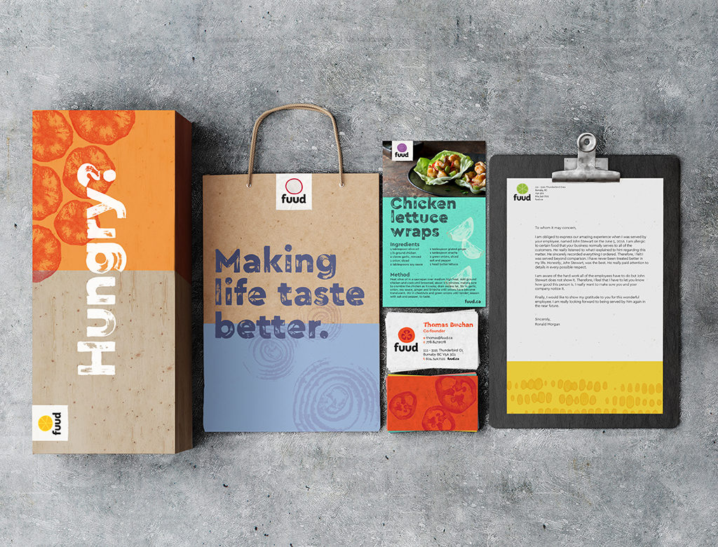 Fuud various brand collateral