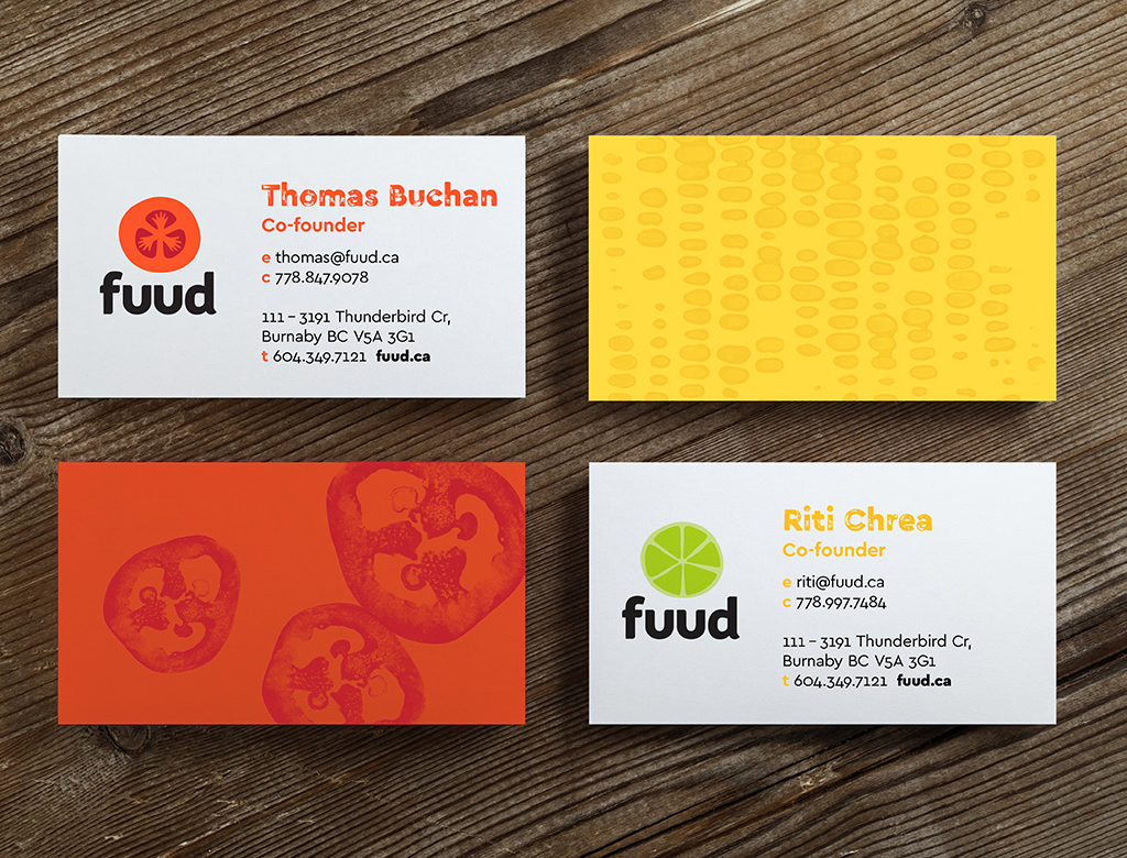 Fuud business cards